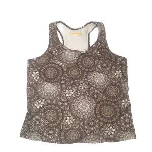 Lucy Tops - Lucy brown workout/activewear tank top